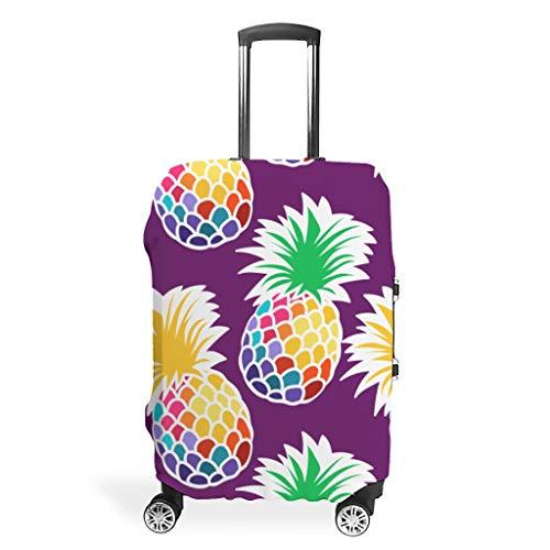 Zhcon - Funda para maleta de equipaje de moda, de elastano, antiagua, a prueba de polvo, piña, estampado de frutas, blanco (Blanco) - Zhcon90120