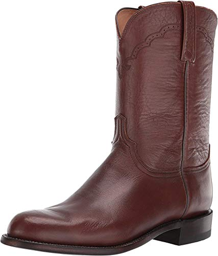 Lucchese Mens Lawrence Round Toe Boots Mid Calf - Brown - Size 12 D