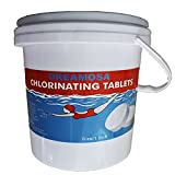 Pool Chlorine Tablets 1 Inch 2.2-Pounds | 1' Chlorine Pool Tablets for Above Ground Pools or Inflatable Pools | Chlorinating Tablets for Swimming Pools Hot Tubs and Spas (1'' tabs | 2.2 lbs)