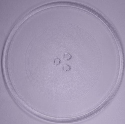 Mikrowellenteller / Drehteller / Glasteller für Mikrowelle # ersetzt Microstar Mikrowellenteller # Durchmesser Ø 32,4 cm / 324 mm # Ersatzteller # Ersatzteil für die Mikrowelle # Ersatz-Drehteller # OHNE Drehring # OHNE Drehkreuz # OHNE Mitnehmer
