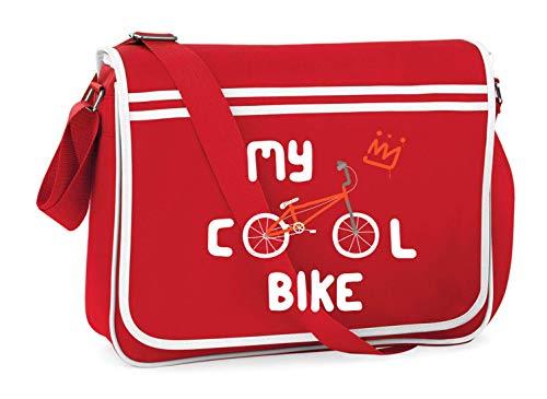Druckerlebnis24 Schultertasche - My Cool Bike Fahrrad - Umhängetasche, geeignet für Schule Uni Laptop Arbeit