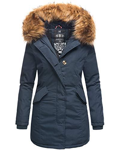 MARIKOO Damen Winter Jacke Stepp Parka...
