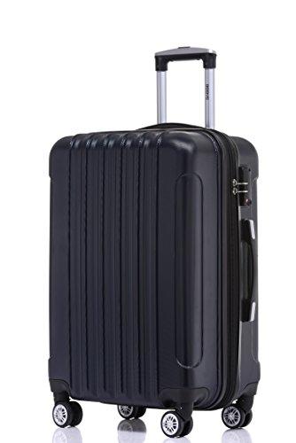 BEIBYE TSA Schloß 2050 Hartschale Trolley Koffer Reisekoffer in M-L-XL-Set (Dunkelblau, 55cm)