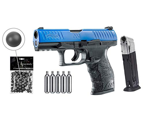 T4E .43cal Walther PPQ LE Paintball Pistol Law Enforcement Trainer with Extra Mag and Included 5x12...