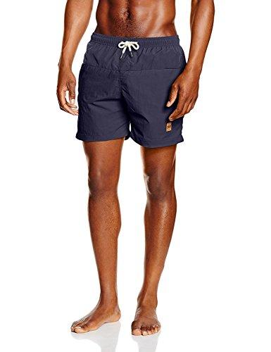 Oferta de Urban Classics Block Swim Shorts Bañador de natación, Azul Oscuro), 5XL para Hombre