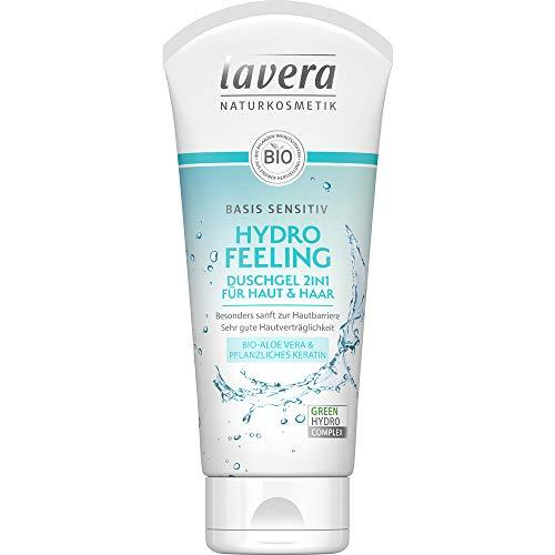 Lavera Bio BASIS SENSITIV HYDRO FEELING Duschgel 2in1 für Haut & Haar (6 x 200 ml)