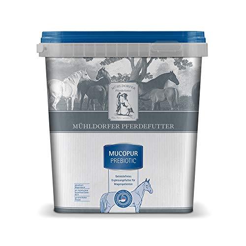 Mühldorfer Mucopur prebiotic, 2 kg, Futter für Pferde mit Magenproblemen, getreidefrei, absorbiert Magensäure, mit Superfood Sanddorn