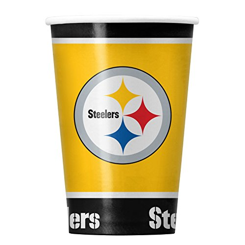 NFL Pittsburgh Steelers Disposable Paper Cups, Pack of 20