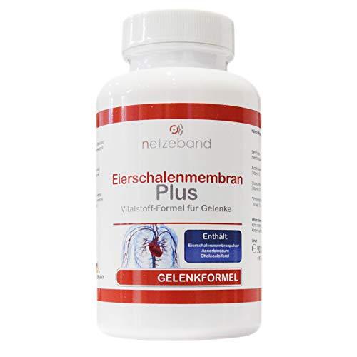 Eierschalenmembran Plus 90 Kapseln mit Eierschalenmembranpulver, Nahrungsergänzungsmittel für Kollagenbildung, Knorpelfunktion Haut-Haare