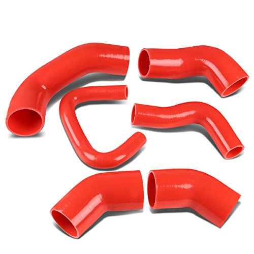 Replacement for Mitsubishi Lancer Evolution Turbo Intercooler Silicon Hose Piping Kit Set (Red) - 8 9 VIII IX