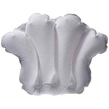 Aquasentials Inflatable Bath Pillow - Terry Cloth