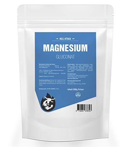 MAGNESIUM GLUCONAT | Reines Magnesiumpulver | Magnesiumgluconat | 100% Rein Ohne Zusatzstoffe | Premium Qualität (500g)