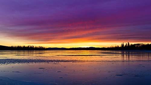 Diamond Art Sunset Sky Clouds Paint Lake Reflection Tree Art Craft Home 40X50Cm Round