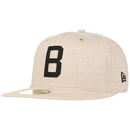 New Era 59Fifty Brooklyn Dodgers Cap MLB Basecap Baseballcap Kappe Flat Brim Fitted Los Angeles Cap Basecap (7 1/4 (57,7cm) - beige)