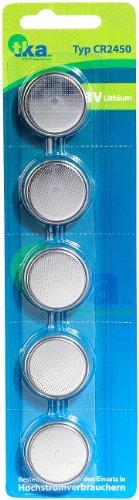 tka Köbele Akkutechnik Batterien CR2450: Lithium-Knopfzellen CR2450, 3 Volt, im 5er-Sparpaket (Knopfzellen CR 2450)