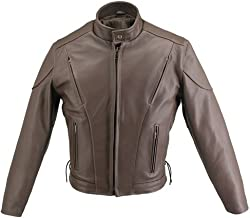 product image for Men's Brown Vented Leather Jacket (50)