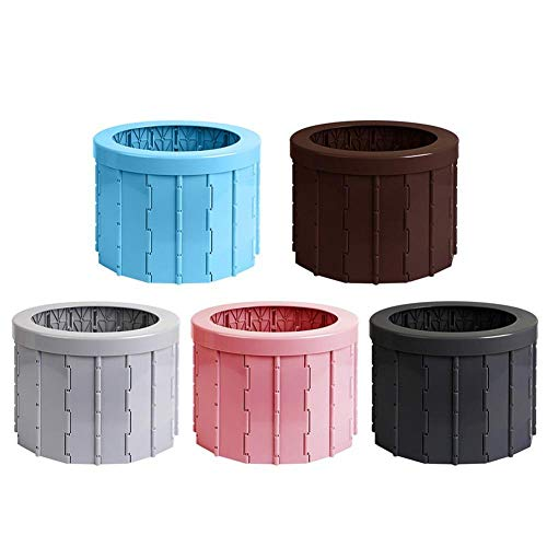 YUHUA Sedile WC Pieghevole Portatile Muti-Funzionale per Escursioni in Campeggio con Borsa per La Pulizia,Pink