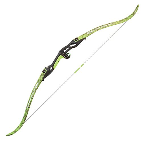 PSE Kingfisher Bowfishing Recurve Bow, Flo Green DK'd Camo, Right Hand (35)