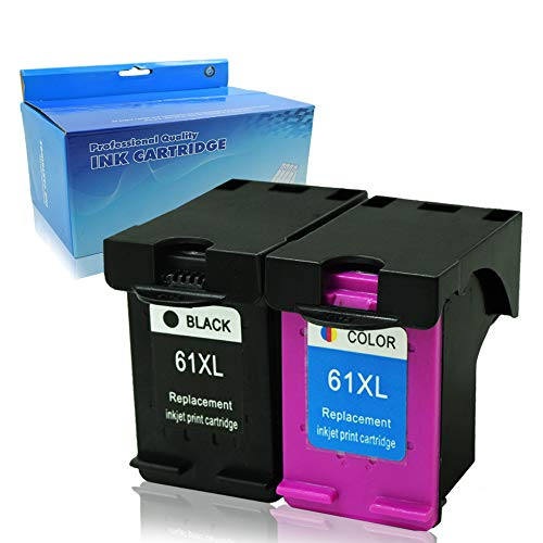 Tyjtyrjty Remanufactured Ink Cartridge Replacement For HP 61XL HP 61 XL(1 Black   1 Tri-Color) CH563WN CH564WN High Yield