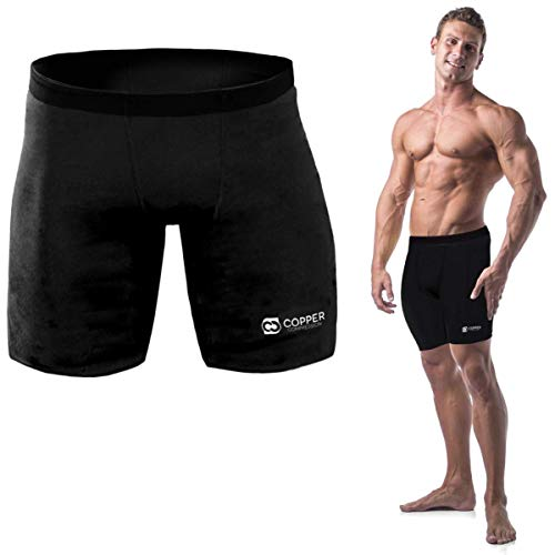Copper Compression Recovery Shorts, Underwear, Tights, Boxer Briefs Fit for Men Black