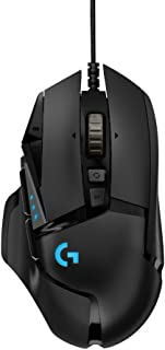 Logitech G502 Hero High Performance Wired Gaming Mouse, Hero 16K Sensor, 16,000 DPI, RGB, Adjustable Weights, 11 Programma...