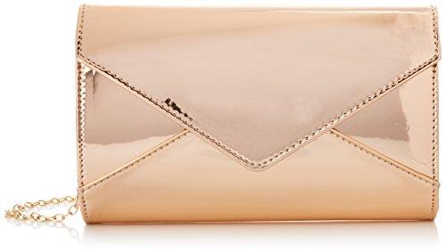 SwankySwans Lena Patent Envelope - Pochette da giorno Donna, Oro (Champagne Gold), 5x13.2x21 cm (W x H x L)