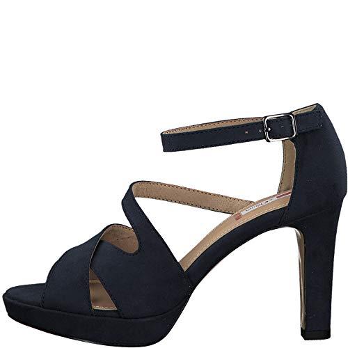 s.Oliver 5-28323-24 Damen Riemchen Sandaletten High Heel, Schuhgröße:38 EU, Farbe:Blau