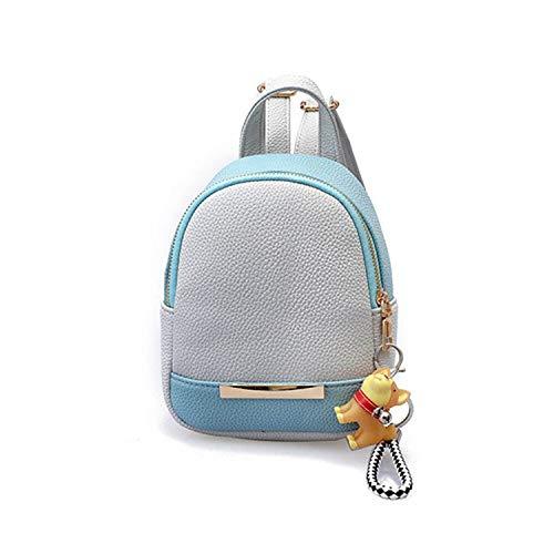 aliennoun bag Mochila para mujer con diseño de Litchi de piel sintética con borla doble cremallera para mujer