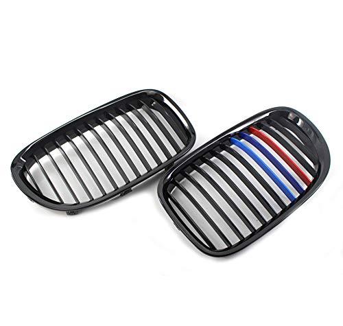 Noir brillant M-style Auto Bonnet Grilles de voiture avant Centre pare-chocs Grille Hood Rein