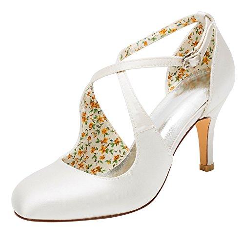 Emily Bridal Zapatos Nupciales Zapatos de Boda de la Vendimia Bombas de...