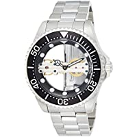 Invicta Men's Pro Diver Mechanical-Hand-Wind Watch with Stainless-Steel Strap (Silver) (Model: 24692)