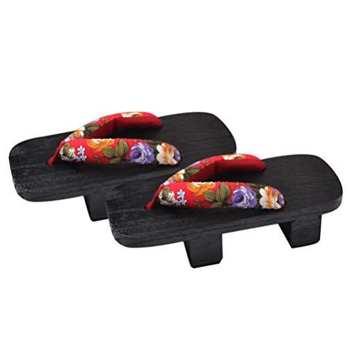 Holibanna Di Legno di Trasporto Libero Geta Sandali Zoccoli Delle Donne di Vibrazione di Cadute di Prestazione Della Fase di Geta Giapponese Ciabatte di Legno Scarpe Altezza Del Tacco 5