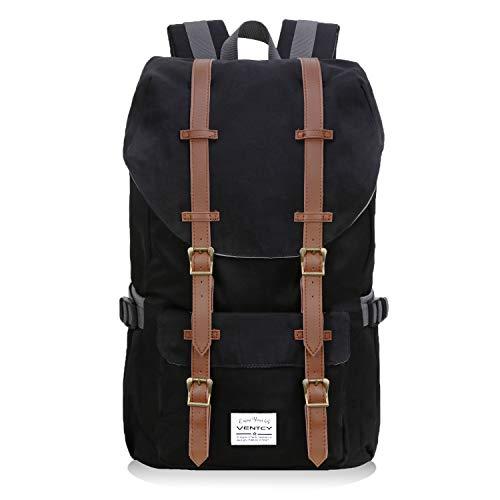 VENTCY Studenten Rucksack Casual Uni Rucksack Herren Backpack 15,6 Zoll Laptop Rucksack Jungen Daypack Wasserabweisend Unisex für Freizeit Outdoor Reise