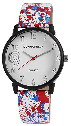 Donna Kelly Damen Analog Quarz Uhr mit Leder Armband 191272100002