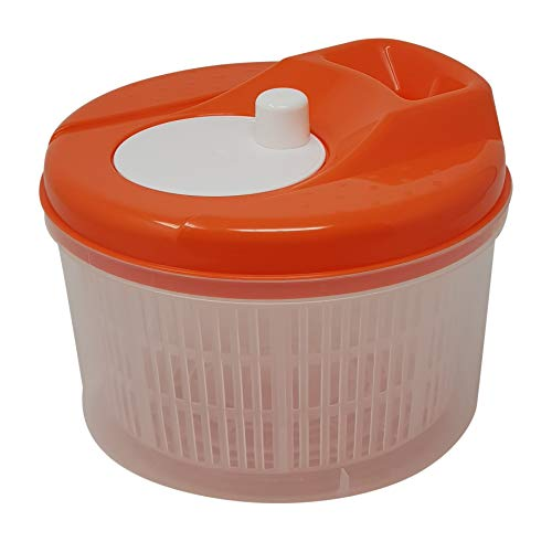 Tosend Centrifuga per Insalata asciuga Verdure insalatiera salvaspazio (Arancio, Litri 3,5)