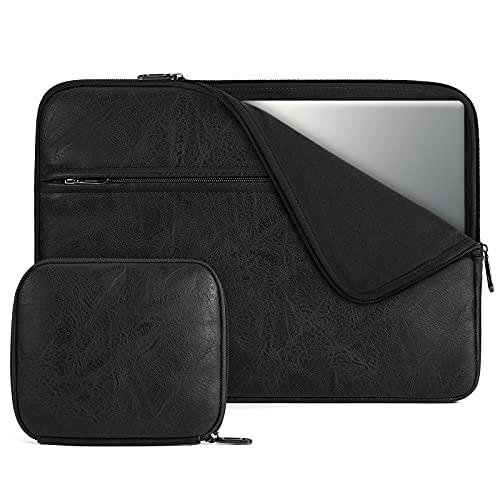 NEWHEY Funda Portatil 14 Pulgadas Compatible con 13,3 MacBook Air/Pro, Notebook, Impermeable Fundas para Ordenador Portátil con Pequeño Caso, Negro
