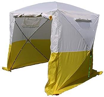 UHATEX Tente de Construction, Jaune Blanc, Tente de Montage