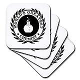 3dRose CST_164892_2 Worlds Greatest Chemist Chemistry Job Pride Black Badge Graphic Soft Coasters, Set of 8