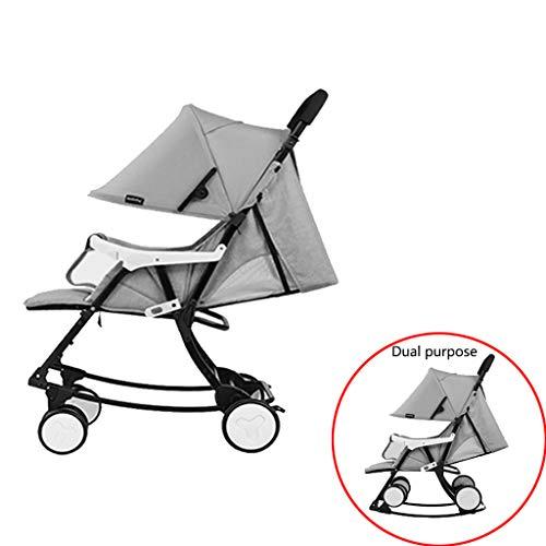 ZXL Silla Mecedora para Bebés, Se Puede Usar como Silla De Paseo Y Mecedora, Vehículo De Doble...