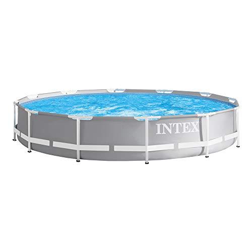 Intex Prism Rondo Ø 366 x 76 cm Frame Pool Set, Hellgrau
