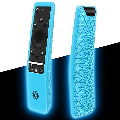 Funda de Protectora Compatible con Mando Samsung BN59-01312A BN59-01259B BN59-01274A Antideslizante Funda de Silicona para Mando TV Samsung (Glow Blue)