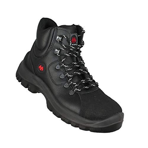 Aimont Jarvis S3 SRC Sicherheitsschuhe Arbeitsschuhe Trekkingschuhe hoch Schwarz, Größe:38 EU