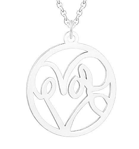 Vrouwelijke ketting - vrouw - hart - liefde - hanger - valentijnsdag - zilver - kerstmis - origineel cadeau-idee love