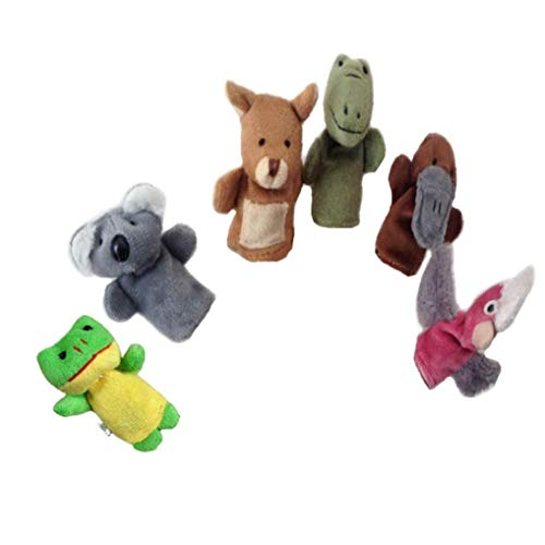 6pcs Fingerpuppen-set Für Kinder Cartoon Handpuppe Tier Spielzeug Menschen Familienmitglieder Puppen Für Baby-kind-kleinkind-kind-pädagogische Geschichten-zeit Ostern-partei-beutel Fillers Koala