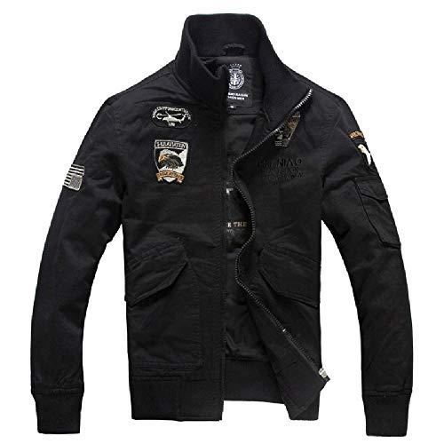 NOBRAND Frühling und Herbst Jacke Herren Casual Herren Fast Selling Jacket Military Coat Herren Large Gr. XXX-Large, Schwarz