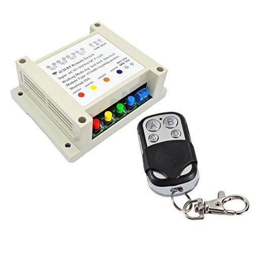 YIONGA CAIJINJIN Relay Receptor Transmisor Receptor RF 24V 10A relé de 4 Canales inalámbricos de RF