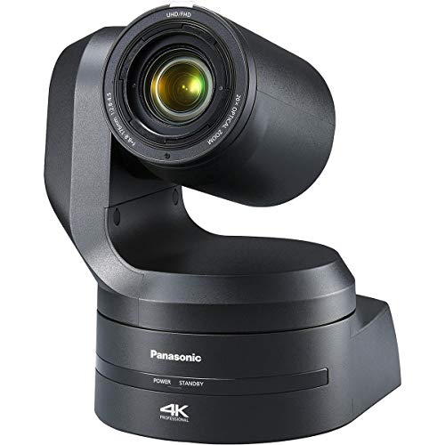 Panasonic AW-UE150 4K UHD PTZ Camera, 20x Optical Zoom, 3840x2160, PoE, Black
