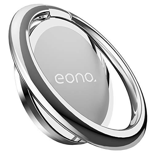 Amazon Brand – Eono Supporto ad Anello, Cellulare Ring in Metallo : Universale Rotazione 360° Ring Holder per iPhone 12 11 XS Max XR X 8, Galaxy S10/S9, Accessori, Altri Android Smartphone - Argento