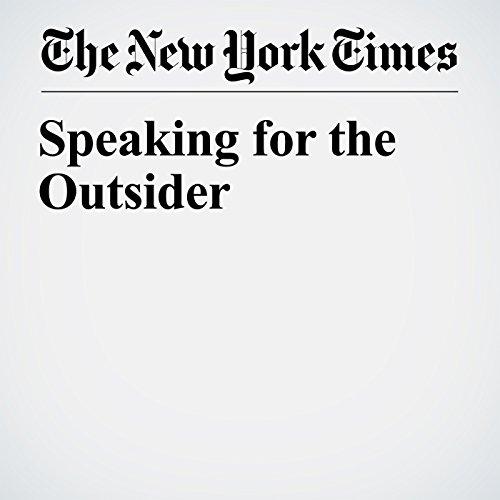 Speaking for the Outsider copertina