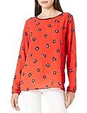 Mexx Printed Blouse Long Sleeve Blusa, Rojo, S para Mujer